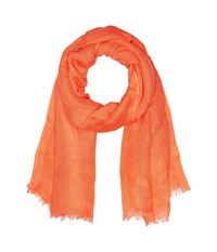 Love Quotes Linen Eyelash Scarf Coral Reef Scarves Red