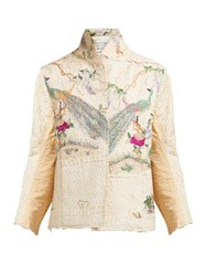 By Walid Haya Embroidered 19Th Century Cotton Jacket Ivory Multi