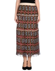 Philosophy Di Alberta Ferretti Long Skirts Dark Brown
