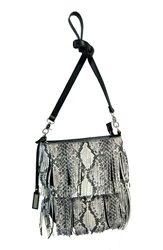 Urban Originals 'Burning Up' Fringe Convertible Crossbody Bag Black Snake