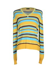 Mas_Q Knitwear Jumpers Men Yellow