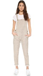 Current Elliott The Foreman Overalls Heather Beige