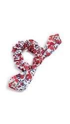 Dannijo Berry Scrunchie Red White