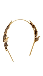 Oscar De La Renta Pave Spike Tiara Cry Gold Shadow