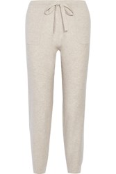 Allude Cashmere Track Pants Beige