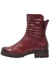 Gabor Platform Boots Dark Red Dark Brown