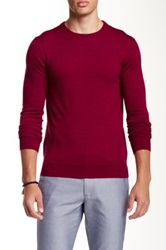 Bonobos Yorkshire Wool Crew Slim Fit Sweater Red
