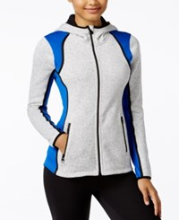 Calvin Klein Performance Fleece Hooded Jacket Cloud Heather Surf The Web
