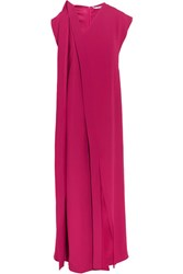 Chalayan Draped Crepe Maxi Dress Magenta