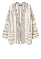 Mango Violeta By Fez Cardigan Offwhite Off White