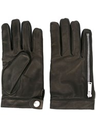 Dsquared2 Leather Gloves Black
