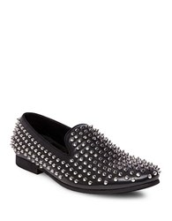 Steve Madden Comeback Spiked Smoking Slipper Black