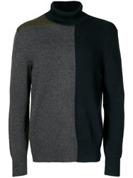 Cedric Charlier Asymmetric Jumper Cashmere Virgin Wool M Blue