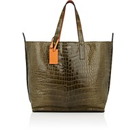 Zagliani Women's Crocodile And Ostrich Reversible Tote No Color
