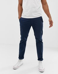 Esprit Slim Fit Chino In Navy