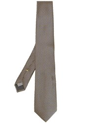 Canali Geometric Patterned Tie Yellow