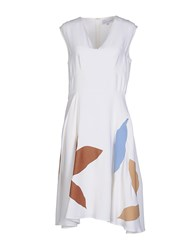 Jonathan Saunders Knee Length Dresses White