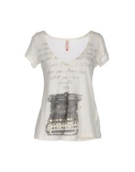 Amy Gee Topwear T Shirts Women Ivory