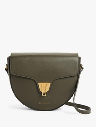Coccinelle Beat Soft Tumbled Leather Bag Green