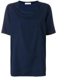 Le Tricot Perugia Short Sleeve Blouse Blue