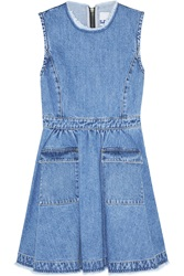 Steve J And Yoni P Flared Denim Mini Dress