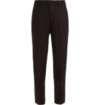 J.Crew Brown Slim Fit Checked Wool Suit Trousers