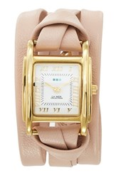 Women's La Mer Collections 'Milwood' Leather Wrap Watch 35Mm