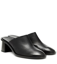 The Row Teatime Clog Leather Mules Black