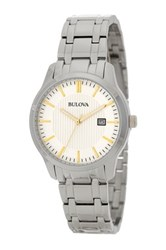 Bulova Men's Quartz Dress Bracelet Watch Metallic