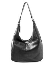 Aimee Kestenberg American Leather Carrie Hobo Bag Black