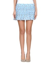 Atelier Fixdesign Skirts Mini Skirts Women Sky Blue