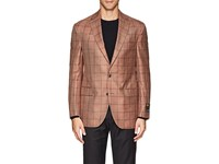 Jack Victor Checked Two Button Sportcoat Pink