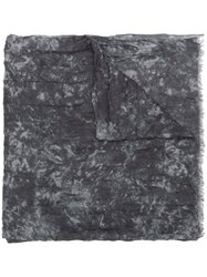 John Varvatos Abstract Pattern Scarf Grey