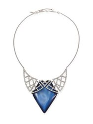 Alexis Bittar Crystal Encrusted Lattice And Lucite Bib Necklace