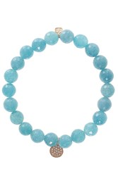 Sydney Evan Quartz Disc Bracelet Blue