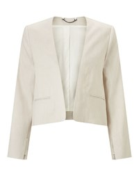 Jigsaw Linen Flow Jacket Ivory