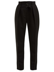 Givenchy High Rise Tapered Wool Trousers Black