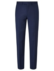 John Lewis Semi Plain Super 100S Wool Travel Suit Trousers Bright Blue