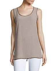 Premise Patterned Tank Top Taupe Cream