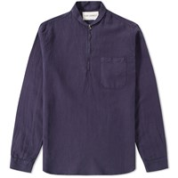 Our Legacy Shawl Zip Shirt Blue
