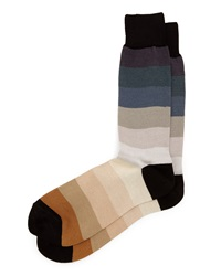 Rainbow Thick Stripe Socks Beige Beige Paul Smith