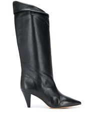 Iro Pointed Toe Knee Boots Black