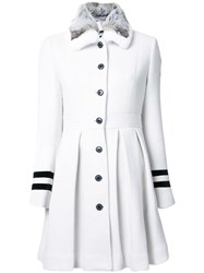 Loveless Pleated Coat White