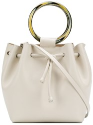 Theory Wax Cord Hoop Shoulder Bag White