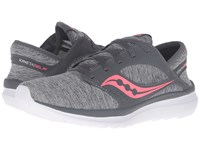 Saucony Kineta Relay Grey Heather Coral Women's Running Shoes Gray