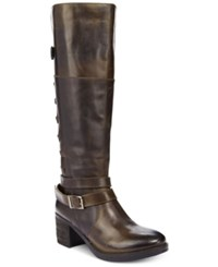 Report Jadon Tall Riding Boots Women's Shoes Black Brown