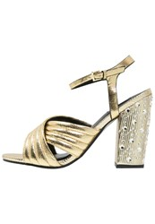 Miss Selfridge City High Heeled Sandals Metallic Gold