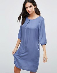 B.Young 3 4 Sleeve Shift Dress Moonlight Blue