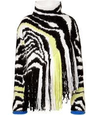 Just Cavalli Wool Mohair Blend Turtleneck Pullover