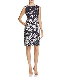 Lafayette 148 New York Evelyn Floral Sheath Dress Ink Multi